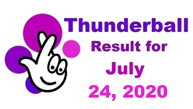 Thunderball Results for Friday, July 24, 2020