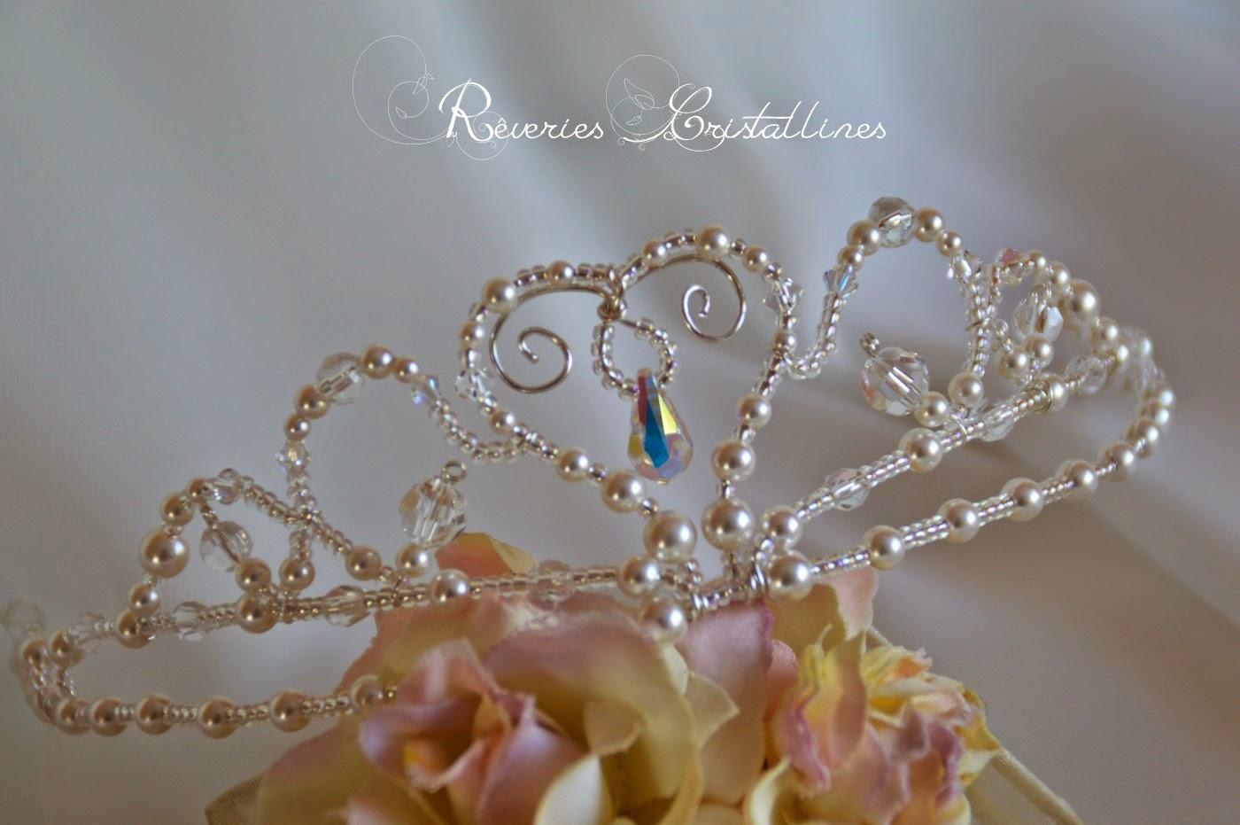 couronne princesse perles et cristaux