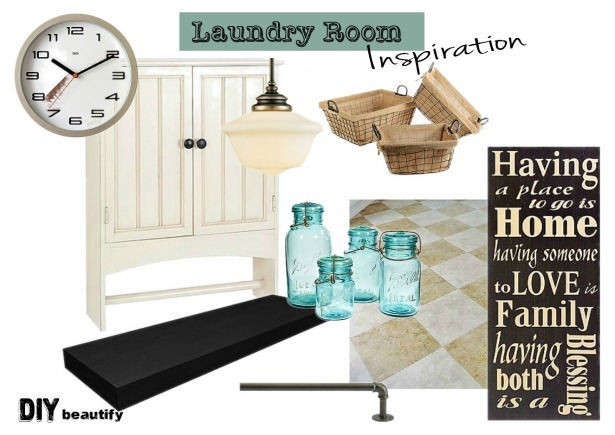 Laundry Room Inspiration Board | DIY beautify