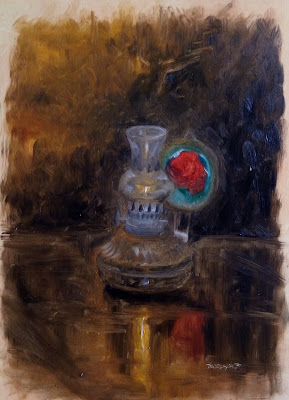Traditional Oil Lamp Painting