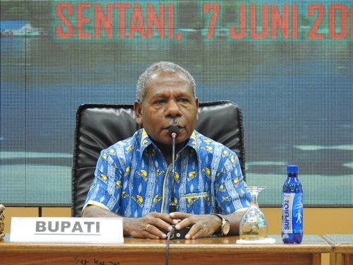 Mathius Awoitauw Sebut Pemerintahan Jayapura Bersama Giri Wijayantoro Berjalan Harmonis.lelemuku.com.jpg