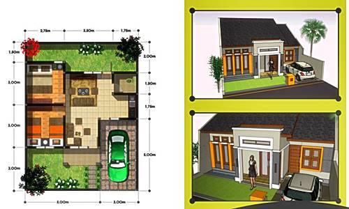 Sketsa dan Denah Rumah Minimalis Modern 2015