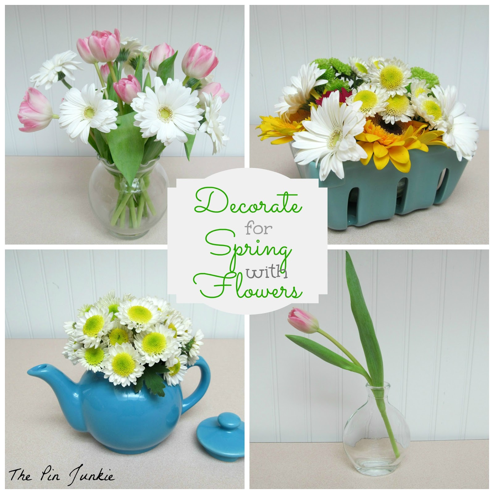 Chic On A Shoestring Decorating Decorate For Spring With Flowers