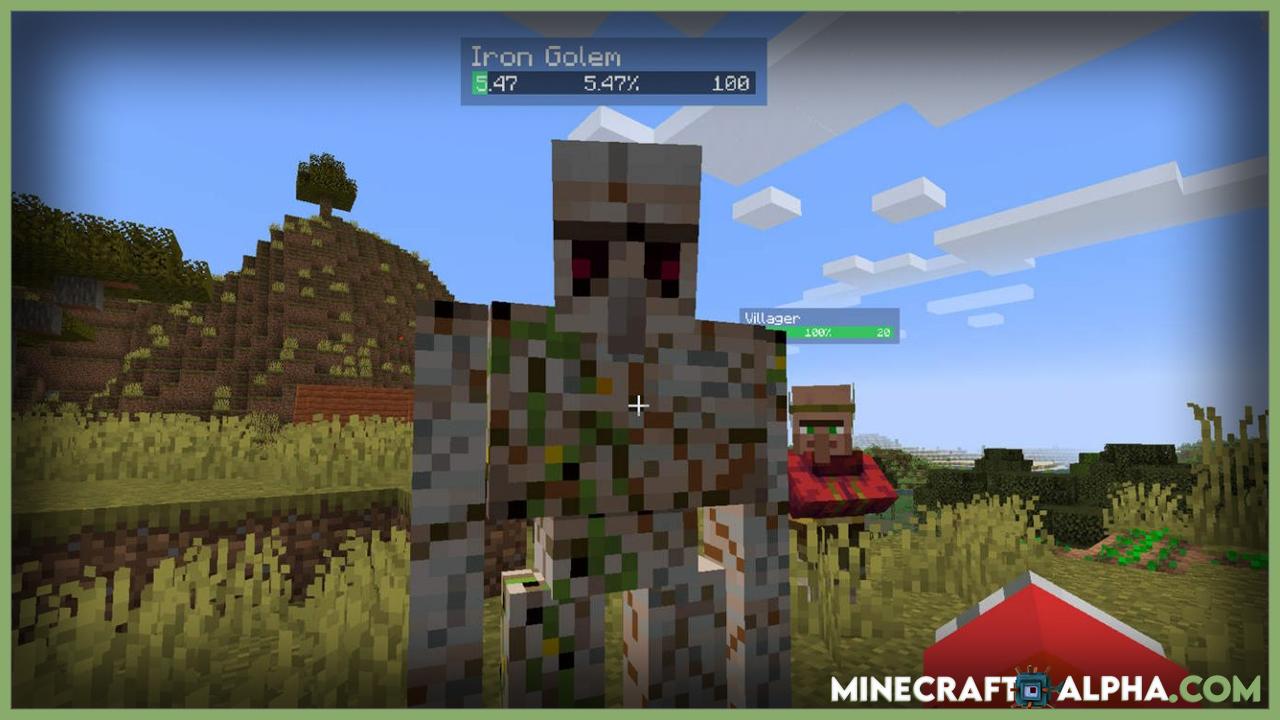 Salutem Mod For Minecraft 1.17.1 (Floating Health Bars)