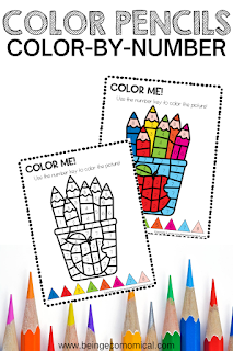 color by number - free printables for preschoolers