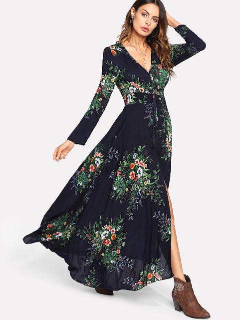 adef207854 Embroidery Mesh Overlay Flowy Dress. Tags: Shopping info
