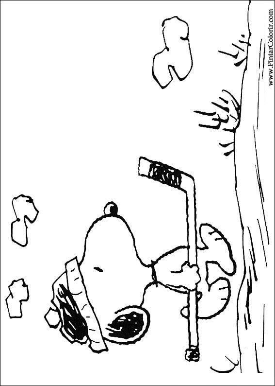 Ausmalbilder Snoopy zum Ausdrucken und Online Ausmalen