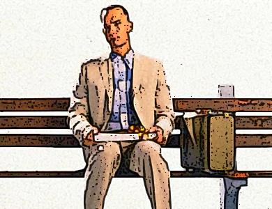 forrest gump sulla panchina