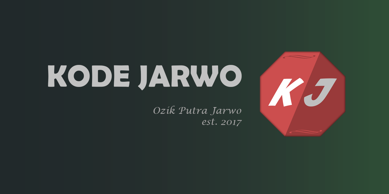Blog Kode Jarwo Landscape