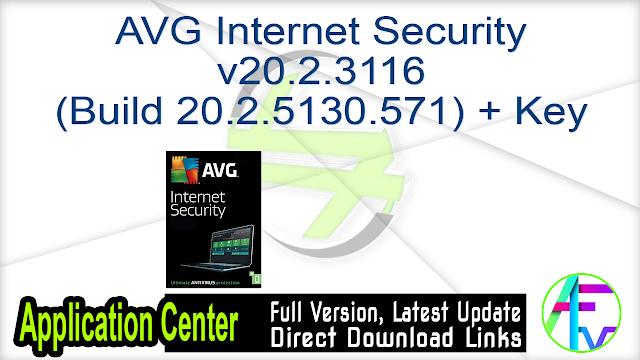 AVG Internet Security v20.2.3116 (Build 20.2.5130.571) + Key