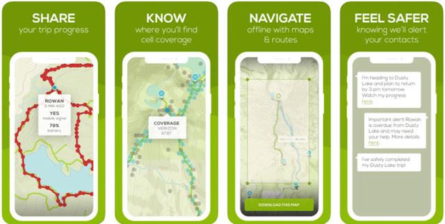 Cairn - أفضل تطبيقات المشي لمسافات طويلة