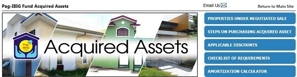 pag-ibig acquired assets under negotiated sale