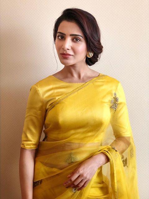 Actress Samantha Beautiful Saree Stills Actress Trend