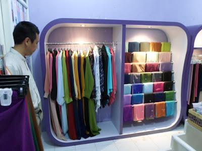 Etalase Display Pakaian Hijab + Furniture Semarang