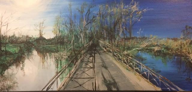 Karine Babel a peint le pont de Saint Méard de Drone