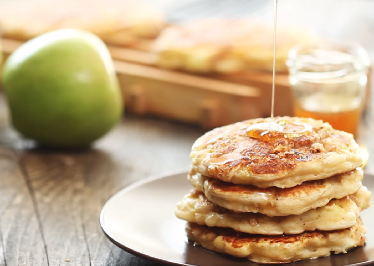 Apple Vanilla Whole Wheat Pancakes