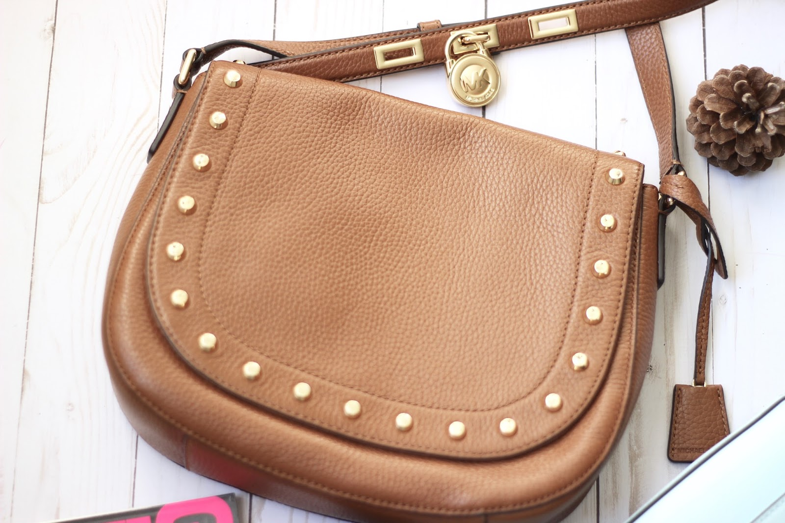 Michael Kors Studded Saddle Bag Review