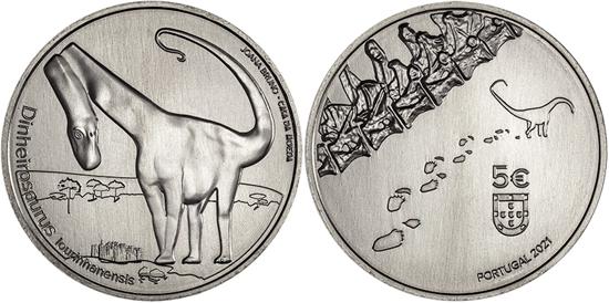 Portugal 5 euro 2021 - Dinheirosaurus Lourinhanensis