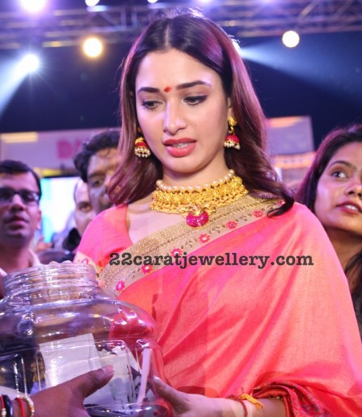 Tamannah in Antique Choker Sets