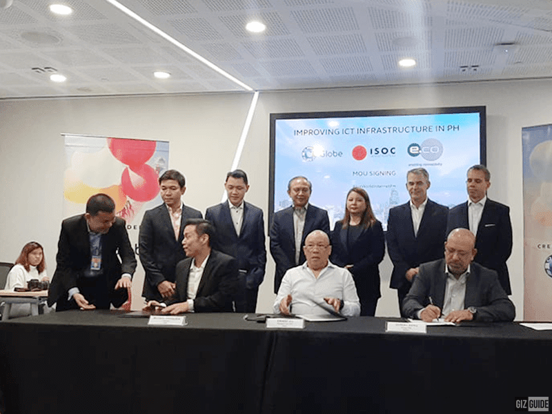 Globe signs MOU with ISOC and edotco to support DICT's common tower initiative
