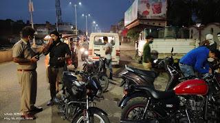 शहर में यातायात प्रभारी सुवेदार की चालानी कार्यवाही से फिर आम जनों में बना डर का माहौल
