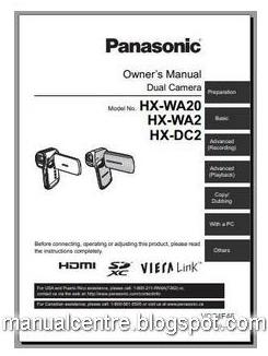 Panasonic HX-WA2 Manual Cover