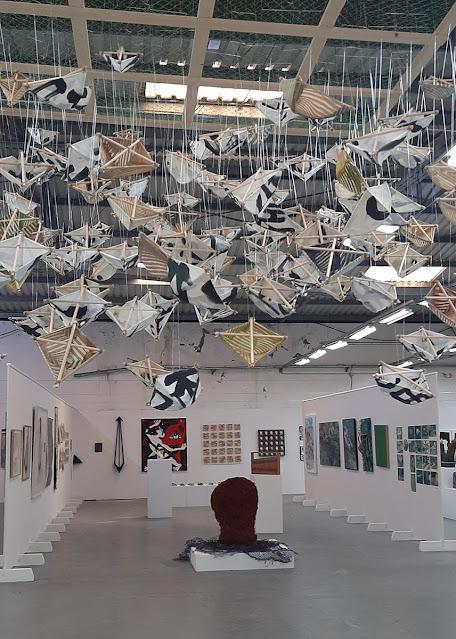 obras de arte em exposição