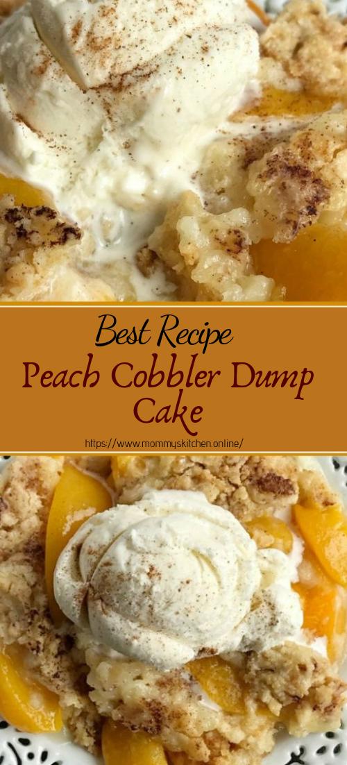 Peach Cobbler Dump Cake #desserts #cakerecipe #chocolate