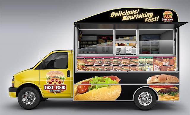 فود تراك-عربة اطعمة متنقلة- سيارة ماكولات متنقلة
