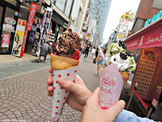 Crepes en la Calle Takeshita de Tokio, Japón