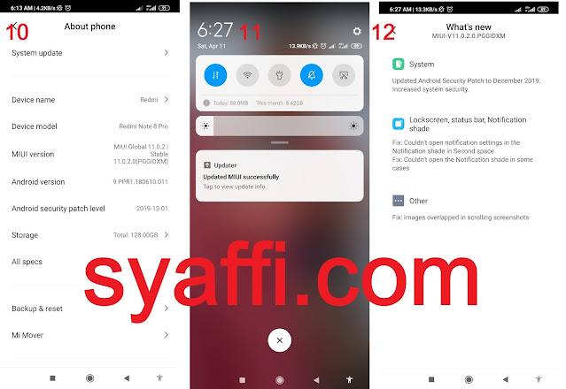 Cara UPDATE MIUI 11 Redmi Note 8 Pro MIUI 11 Download