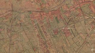 La urbanización resigue la parcelación (mapa de 1923)