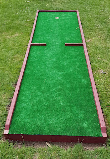Mini Golf course at Queens Park in Crewe