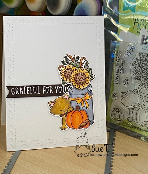 Grateful for you by Sue T. features Fall Roundabout, Paw-tumn Newton, and Framework by Newton's Nook Designs; #newtonsnook