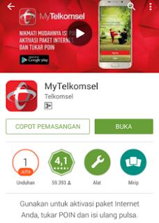 Cara Mendapatkan Bonus Pulsa Gratis 50 rb Hanya Dengan Download Aplikasi MyTELKOMSEL
