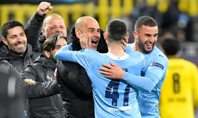 Man City are 'building history' with potential quadruple- Guardiola's side knocked out Borussia Dortmund to reach last four of UEFA
