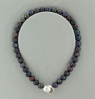 echte Perlenkette tahiti-schwarz