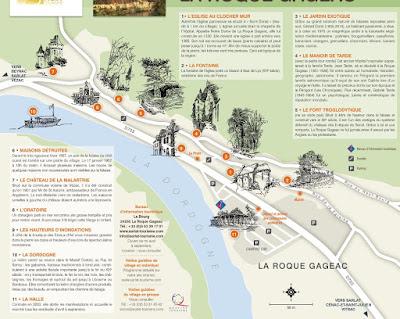 Mapa de La Roque Gageac