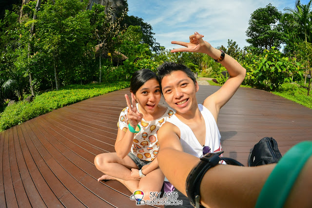 Another selfie on the deck @ The Banjaran Hotsprings Retreat, Ipoh