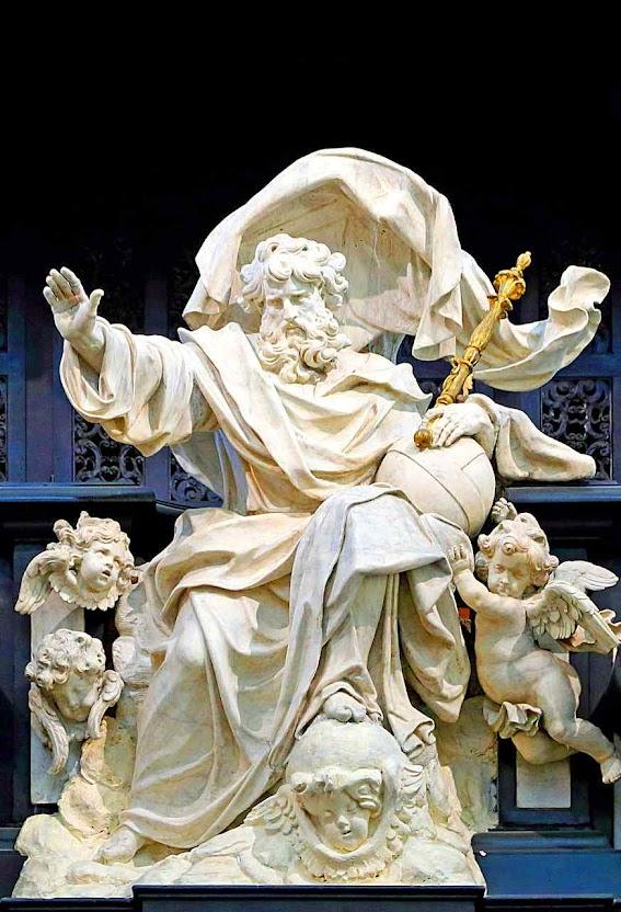 Deus Juiz Supremo, catedral de São Salvador, Bruges, Bélgica, Artus Quellinus o Jovem (1625-1700).