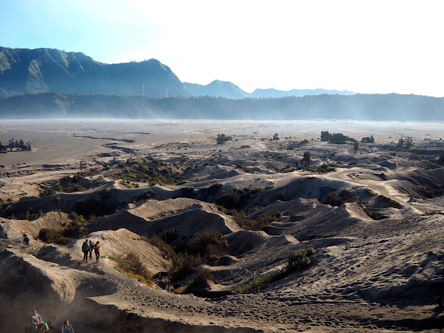 View from the crater of Mt Bromo, East Java, Indonesia