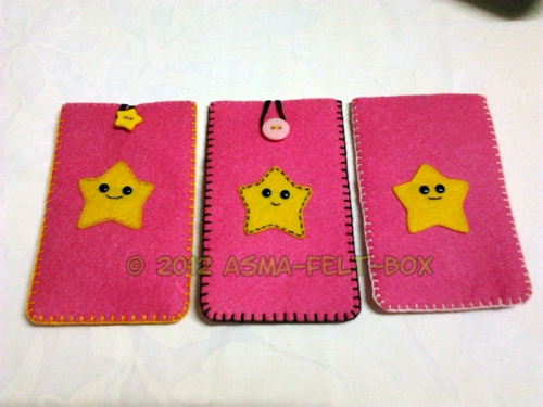 R5: Felt Phone Case versi Happy Star
