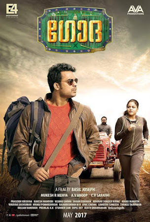 Poster Of Godha In Dual Audio Hindi Malayalam 300MB Compressed Small Size Pc Movie Free Download Only At worldfree4u.com