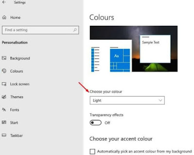 Cara Mengaktifkan Mode Gelap [ Dark Mode ] di Windows 10