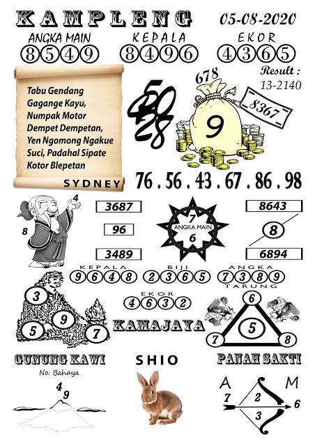 Syair Kampleng Sydney 5 Agustus