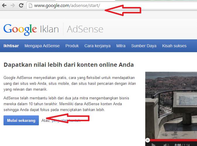 Cara Daftar Google Adsense Bagian Pertama