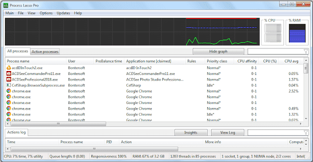 Screenshot Bitsum Process Lasso Pro 9.3.0.74 Full Version