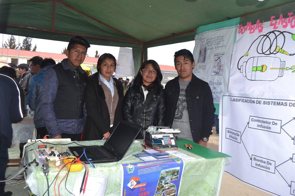 Estudiantes de instituto técnicos participaron con entusiasmo en ciudad de El Alto