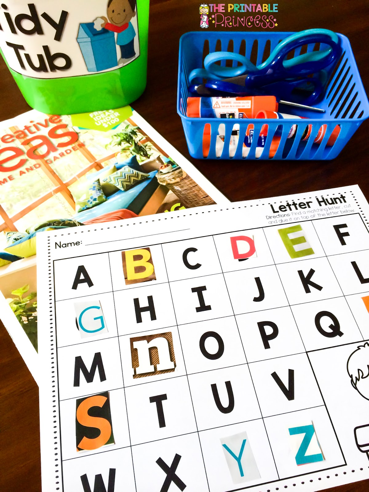 The Printable Princess Learning Letters And Having Loads Of Fun