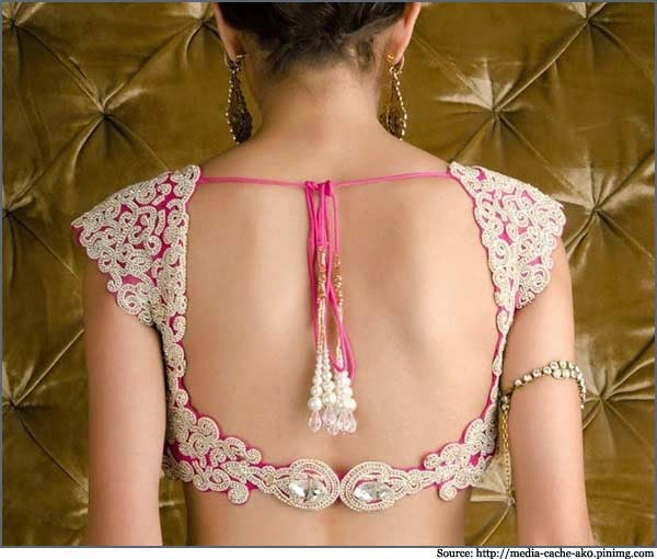 40+ Back Neck Blouse Designs To Try